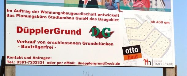 """NEUES VOM """"DÜPPLER GRUND"""" Volksstimme 29.8.2014"""